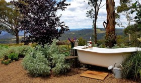 outdoor bath / hot and cold water